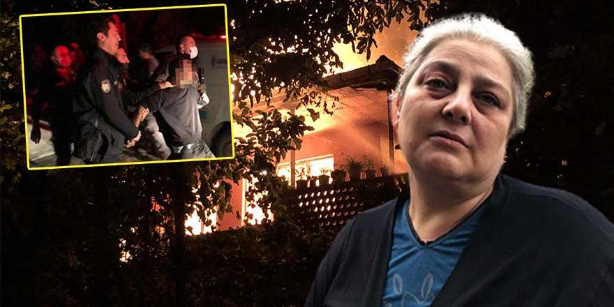 """""""Köpek besleme"""" tartışması sonrası kiracı evi yaktı"""