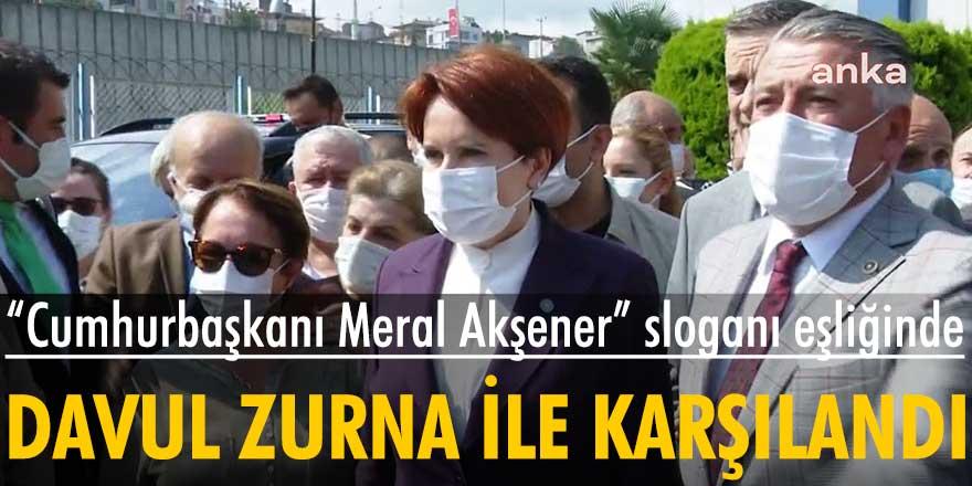 Meral Akşener Trabzon'da 'Cumhurbaşkanı Meral Akşener' sloganıyla karşılandı
