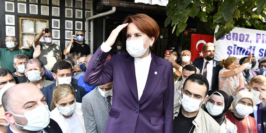 İYİ Parti lideri, AKP'nin kalesinde 'Cumhurbaşkanı Akşener' sloganlarıyla karşılandı