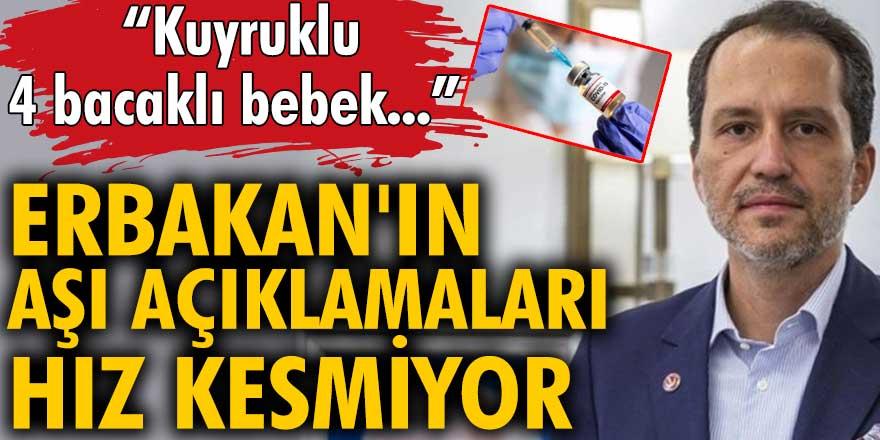 Fatih Erbakan'ın aşı açıklamaları hız kesmiyor!