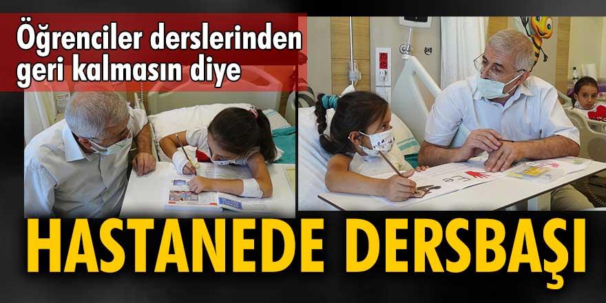 Öğrenciler derslerinden geri kalmasın diye hastanede dersbaşı