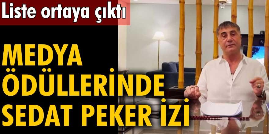 Medya ödüllerinde Sedat Peker izi