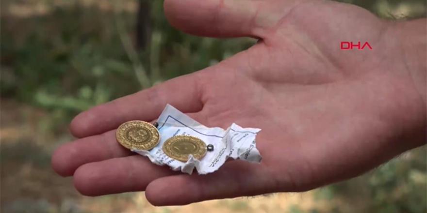 Yarım altınların sahibi elektrik faturasıyla bulundu