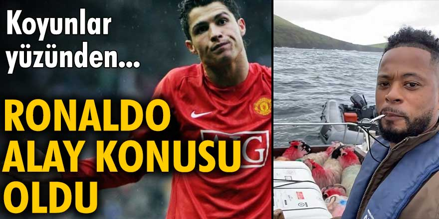 Christiano Ronaldo, koyunlar yüzünden alay konusu oldu