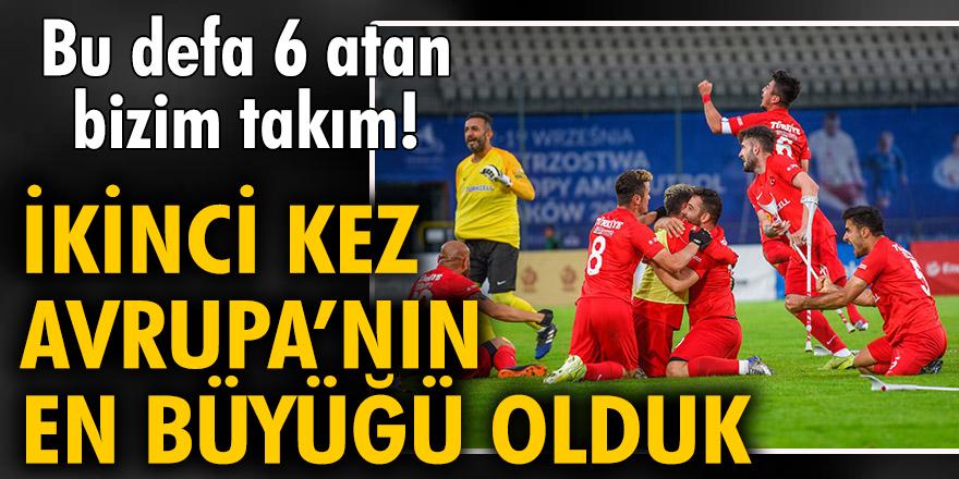 Türkiye Ampute Futbol Milli Takımı, ikinci kez Avrupa Şampiyonu oldu