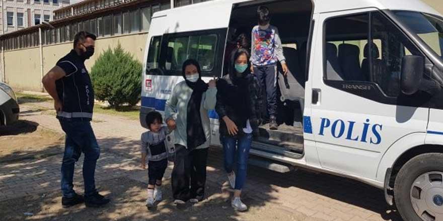 Erzincan'da 16 kaçak göçmen yakalandı!