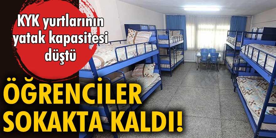 KYK yurtlarının yatak kapasitesi düştü!