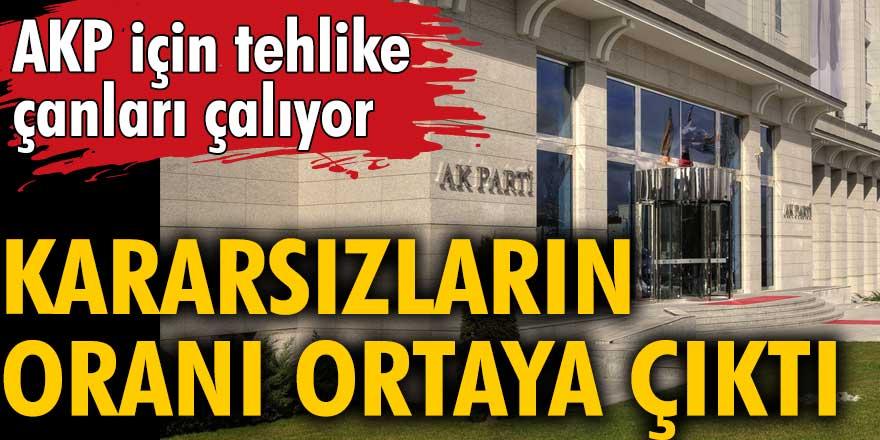 AKP için tehlike çanları çalıyor! Kararsızların oranı ortaya çıktı