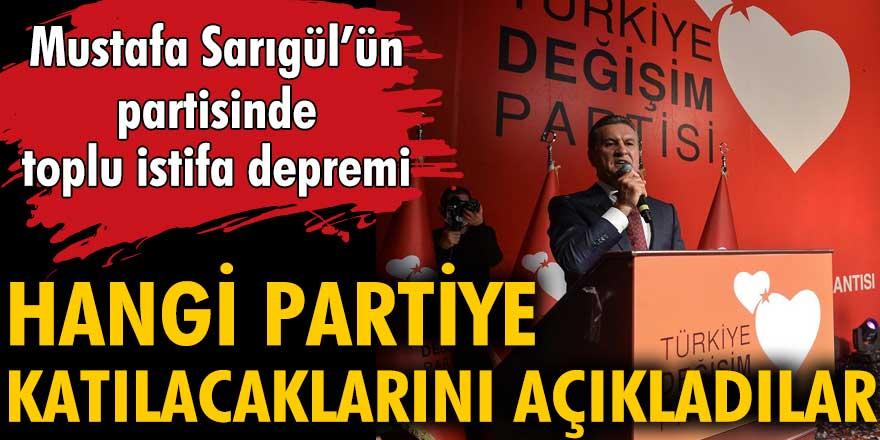 Mustafa Sarıgül'ün partisinde toplu istifa depremi! Hangi partiye katılacaklarını açıkladılar
