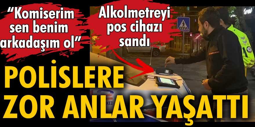 Bursa'da alkollü sürücü alkolmetreyi pos cihazı sanarak ödeme yapmak istedi, polislere zor anlar yaşattı