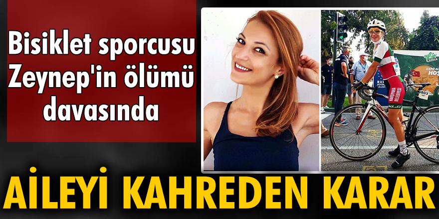 Bisiklet sporcusu Zeynep'in ölümünde 3 sanığa 'iyi hal' indirimli ceza