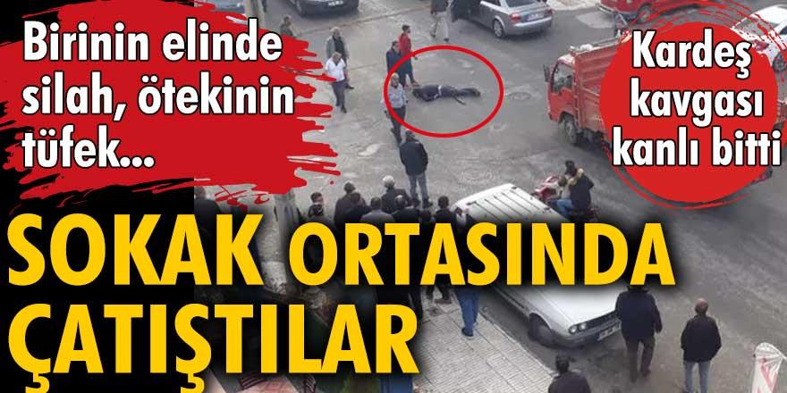 Çorum'da iki kardeş sokak ortasında çatıştı: Biri öldü diğeri yaralı