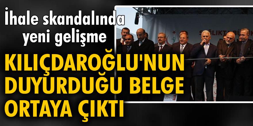 İhale skandalında yeni gelişme: Kılıçdaroğlu'nun duyurduğu belge ortaya çıktı