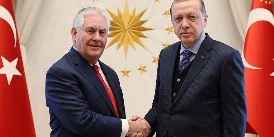 Erdoğan ile Tillerson görüşmesi sona erdi