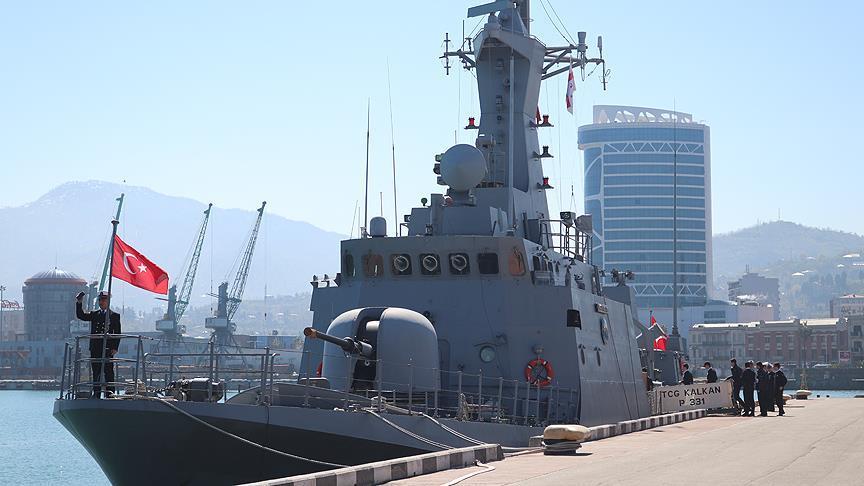 Türk Savaş Gemileri Batum'da