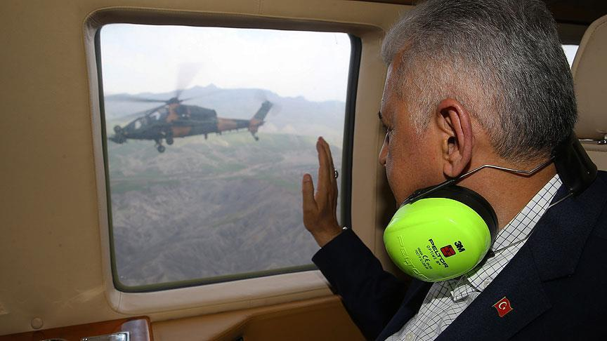 Başbakan Yıldırım'dan Atak helikopterine selam