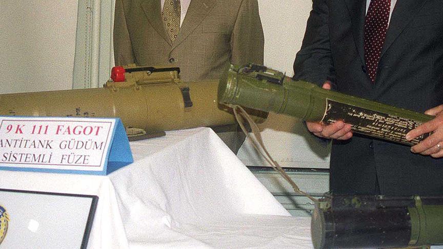 Antitank füzesi parçaları ele geçirildi