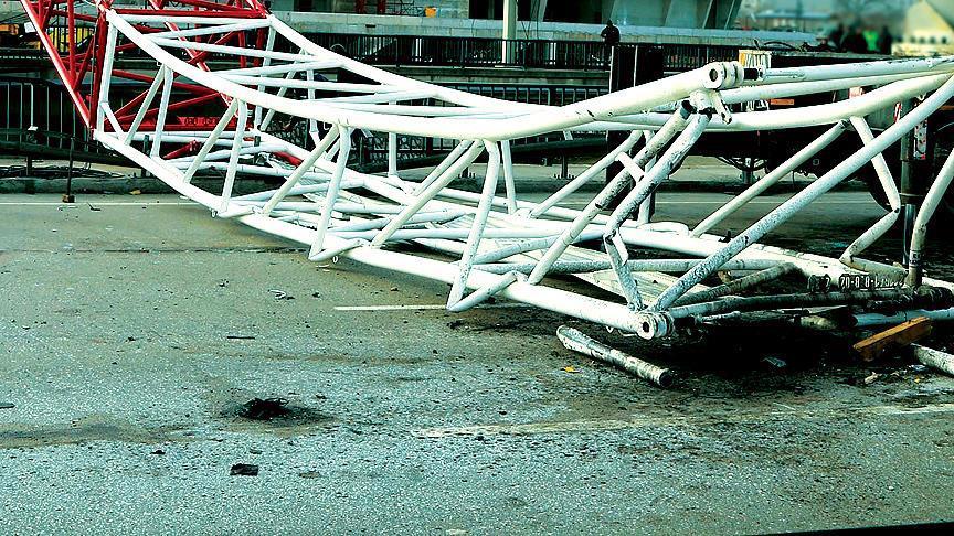 Çin'de vinç kazası: 6 ölü