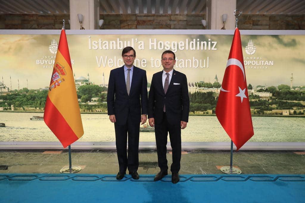 Fransız ve İspanyol diplomatlardan İmamoğlu'na tebrik ziyareti...