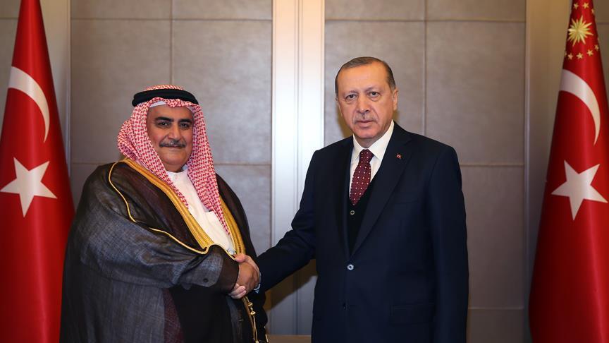 Bahreyn Dışişleri Bakanı ile görüştü