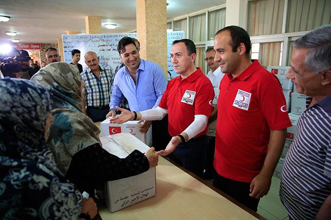 Türk Kızılayı'ndan Bağdat'ta gıda yardımı
