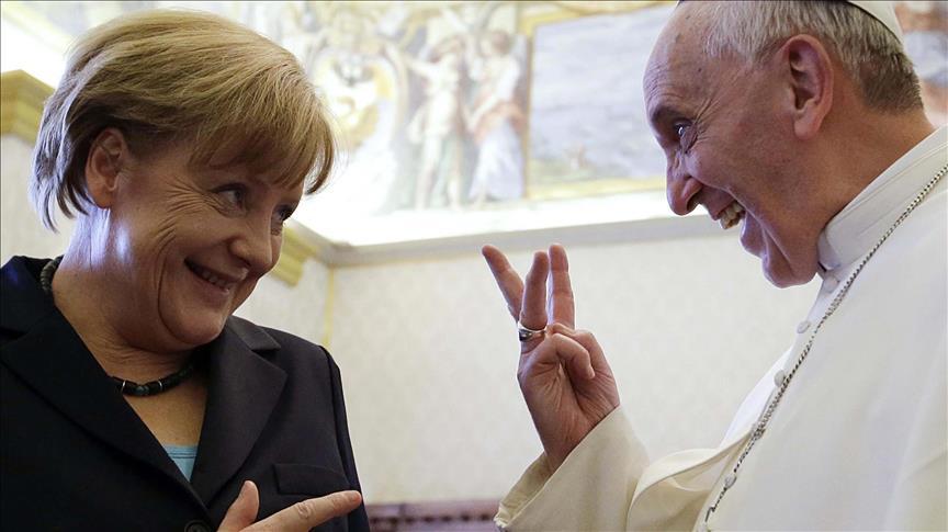 Almanya Başbakanı Merkel Vatikan'da