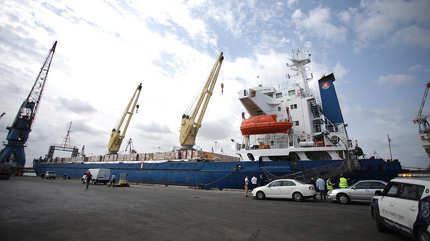 'Şefkat' gemisi Aşdod Limanı'nda