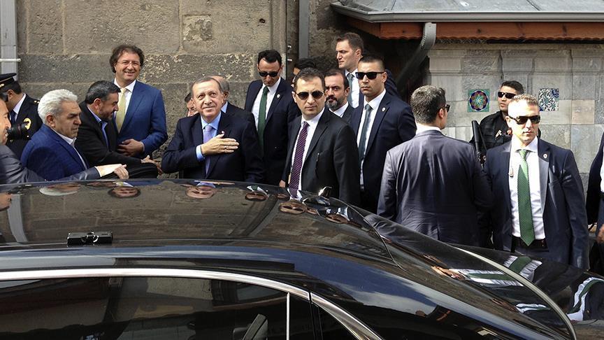 Erdoğan, cuma namazını Kayseri'de kıldı
