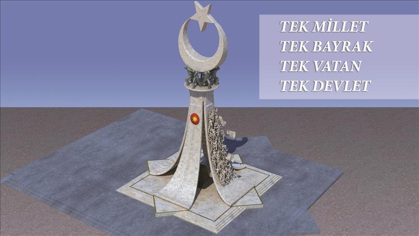 '15 Temmuz Şehitler Anıtı' tanıtıldı