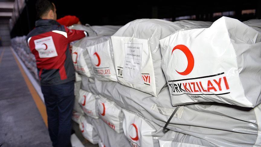 Kızılay'dan Musullu sığınmacılara yardım