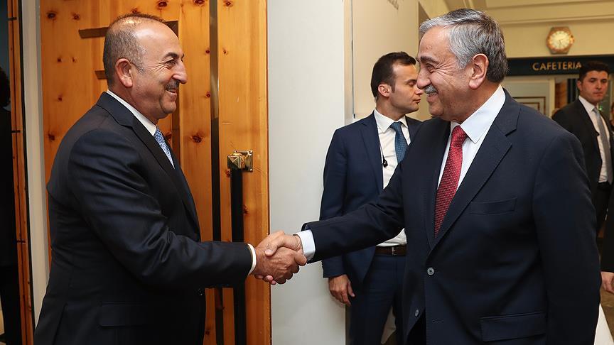 Çavuşoğlu ve Akıncı Kıbrıs Konferansı'nı değerlendirdi