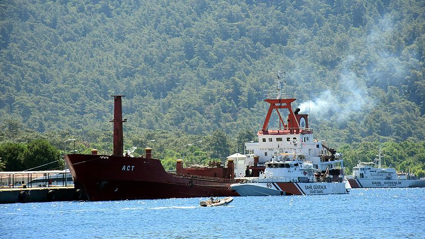 Türk gemisinde inceleme yapıldı