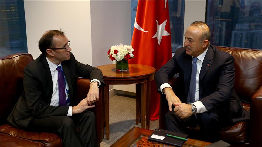 Çavuşoğlu Kıbrıs Özel Danışmanı Eide ile görüştü