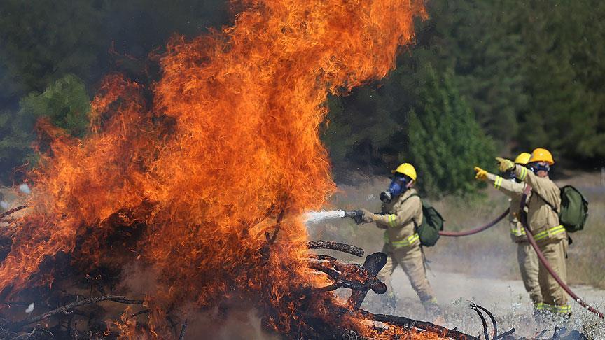 Yangın tatbikatı gerçeğini aratmadı