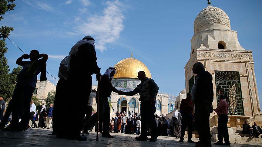 Filistinliler Harem-i Şerif'e girdi