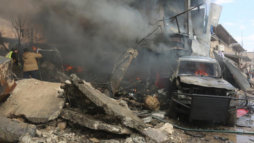 Azez'de patlama: 60 ölü