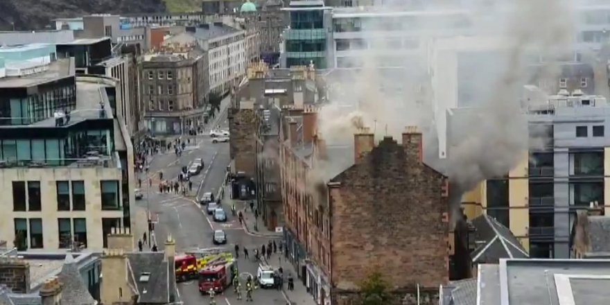 İskoçya'da gaz patlaması sonucu yangın çıktı