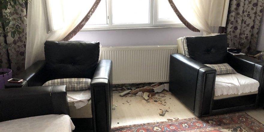 Evin duvarına çarptı, özür dileyip kaçtı!