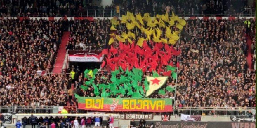 St. Pauli'nin maçında PKK'ya destek!