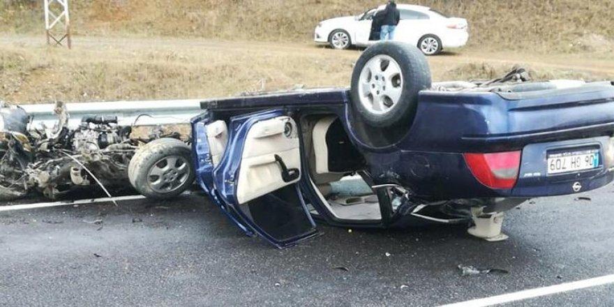 Gümüşhane'de korkunç kaza! 3'ü çocuk 5 kişi yaralandı