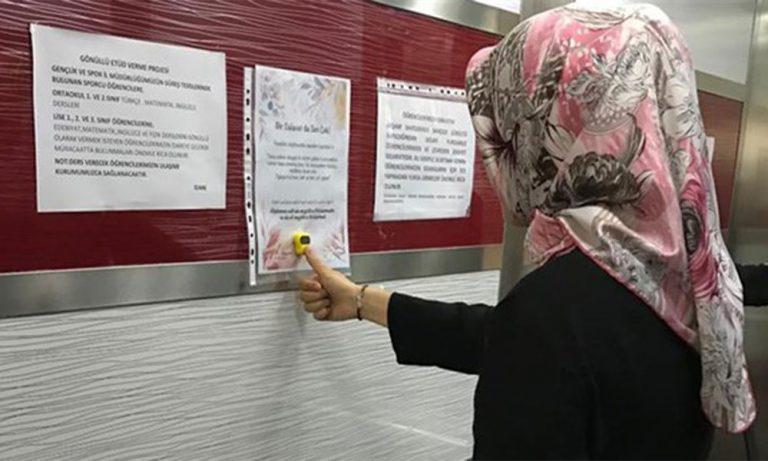 Devlet yurdunda öğrenciler için zikirmatik takıldı