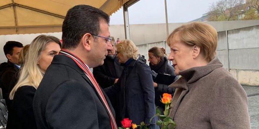 İmamoğlu Angela Merkel ile bir araya geldi