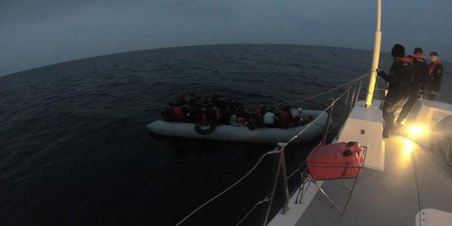 Çanakkale'de 70 kaçak göçmen yakalandı