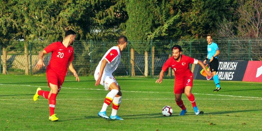 U19 milliler, Karadağ'ı mağlup etti