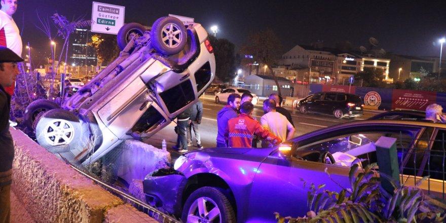 D-100 karayolunda zincirleme trafik kazası