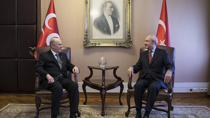 Kılıçdaroğlu ile Bahçeli bir araya geldi