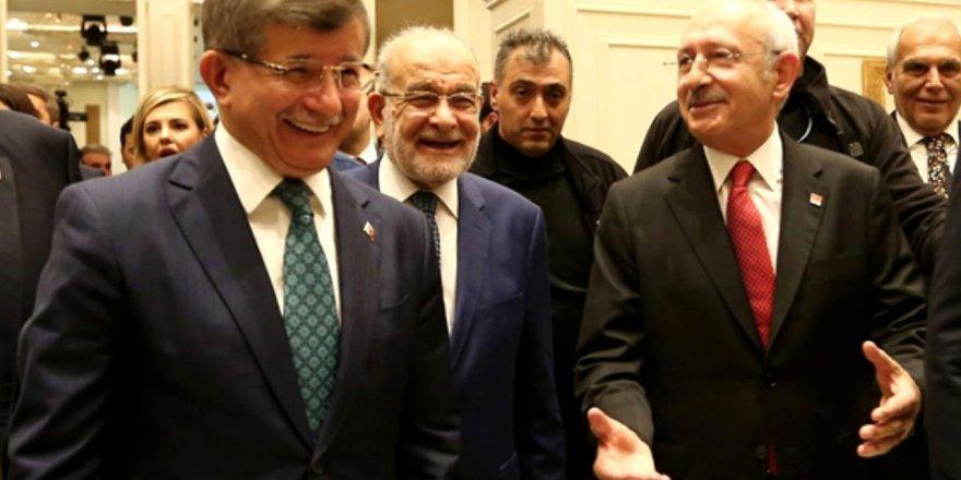 AKP'den Davutoğlu, Kılıçdaroğlu ve Karamollaoğlu'nun fotoğrafına ilk yorum