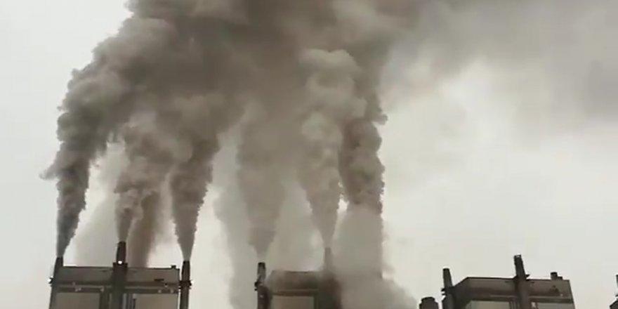 Elbistan'daki termik santralde korkunç görüntüler