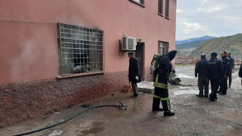 Tuğla fabrikasında yangın