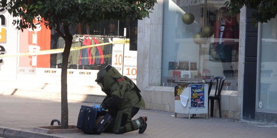 Mersin'de şüpheli bavul paniği